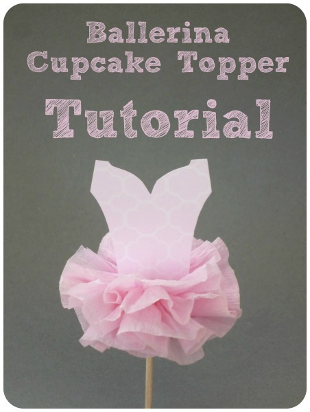 Ballerina Party Cupcake Topper