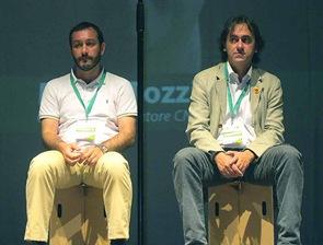 Angelo Bonelli e Michele Dotti al congresso fondazione Ecologisti e civici (NV 22 mag 2011)