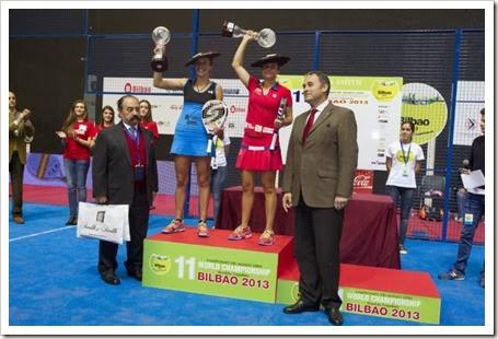 Clara Siverio y Carla Mesa, rompen los pronósticos y se proclaman campeonas del mundo por parejas en Bilbao 2013.