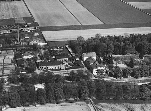 Tullgarns gjuteri och Tullgarnsparken, flygfoto 1937
