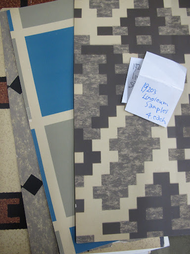 A few vintage linoleum samples...so many patterns to be inspired by here.