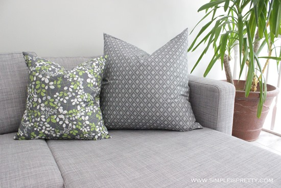 Pillows on Chaise from www.simpleispretty.com