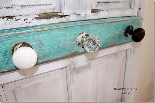 Shabby Story Vintage Door Knob Coat Rack
