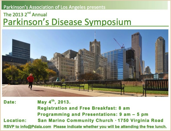 2013 2nd Annual Pasadena Parkinson s Symposium