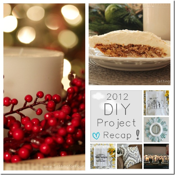 Best of 2012 DIY Projects from Setting for Four #bestof2012 #diy #tutorial #linky #party