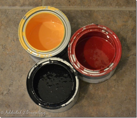 orange door paint colors