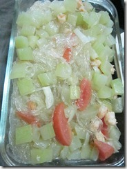 sotanghon soup with upo and shrimps, 240baon