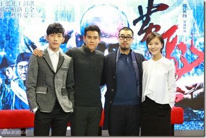 2014.11.18 Eddie Peng during Rise of the Legend - 彭于晏 黃飛鴻之英雄有夢 做客新浪 01