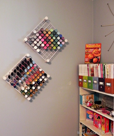 Hanging Craft Paint Storage - Mad in Crafts
