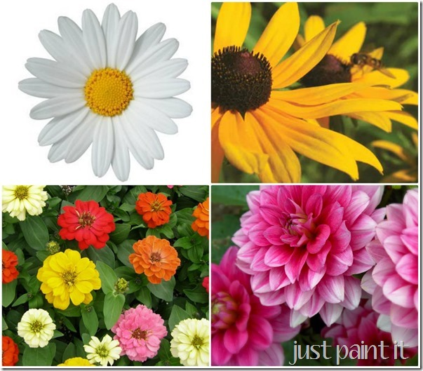 daisy painting tutorial  just paint it blog, Natural flower