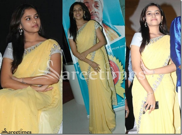 Sri_Divya_Yellow_Saree