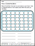 Use Connect 4 to teach literacy skills - free printable