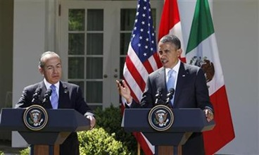 Obama-Mexico-Calderon-vow-more-drug-crime-cooperation