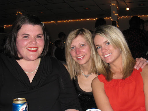 Megan, Vicky, Erin at the Cooper HS Christmas dinner