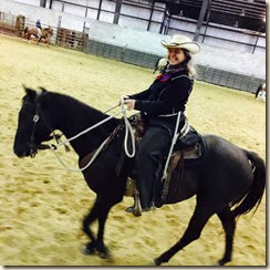 Missy under saddle