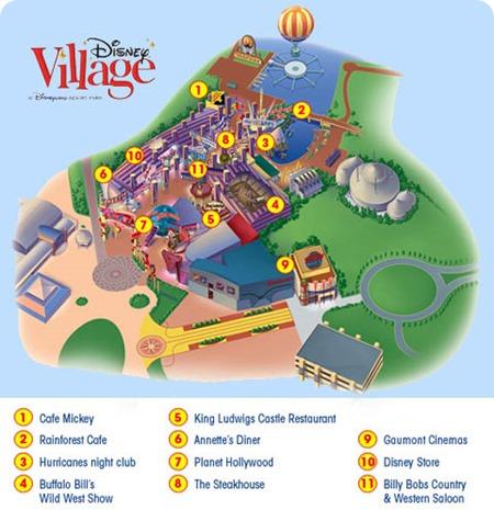 Disney_Village_Mapa