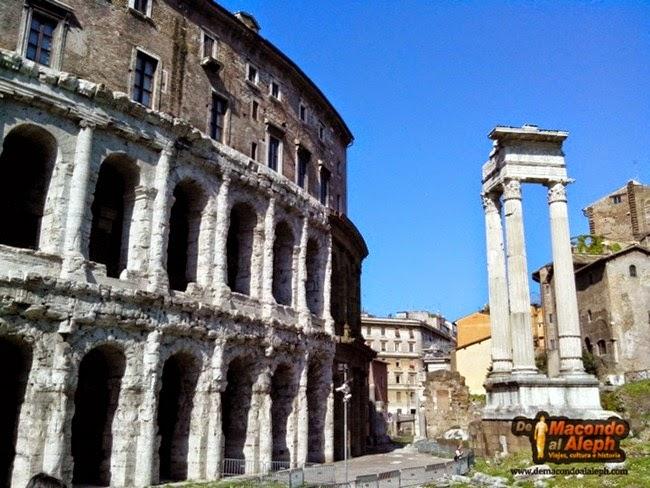 Teatro Marcello, el pequeño coliseo de Roma