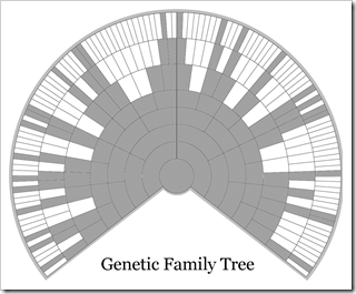 Your Genetic pedigree is a subset of your genealogical pedigree.