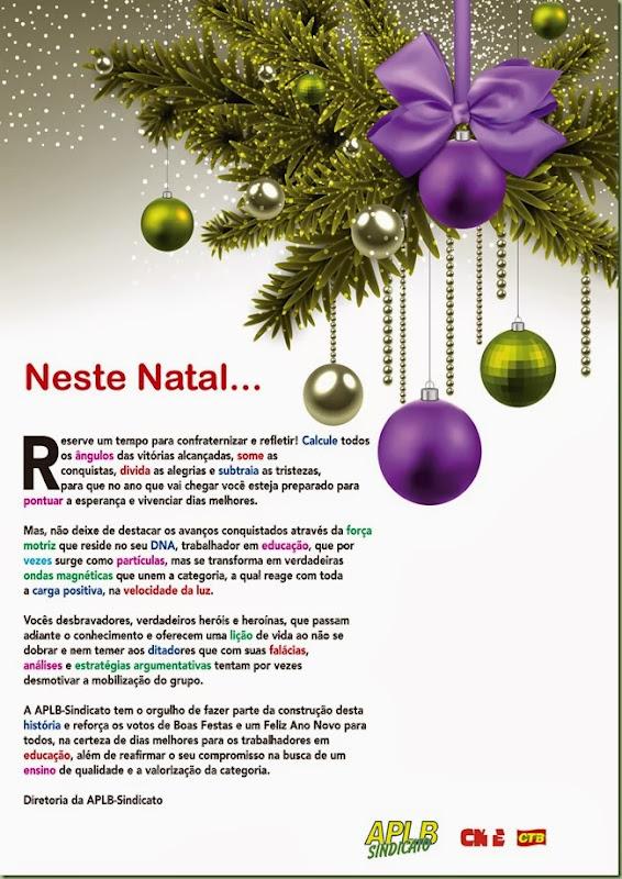 Cartão natal APLB Salvador