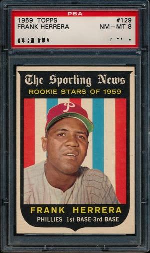 1959 Topps 129 Frank Herrera