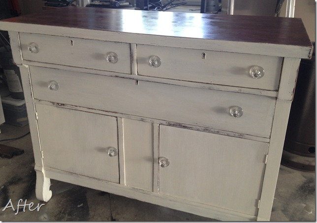 Vintage restyled dresser before after for Furniture xo out of business