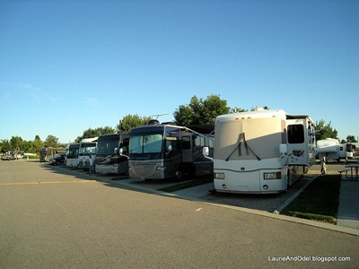 Row of RV's