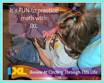IXL Math and Language Arts ~ It's fun to practice math with IXL. Read Tess's Review at Circling Through This Life