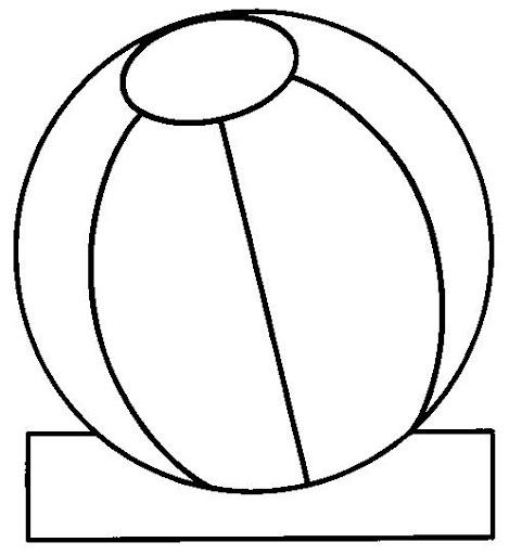 Dibujos para colorear una pelota - Imagui