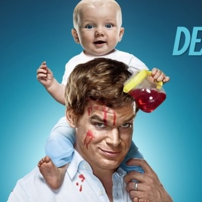 Artista desenha retrato do Dexter com sangue