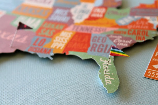 homework a creative blog INKLING United States Pin Map