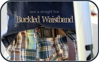 buckled waistband