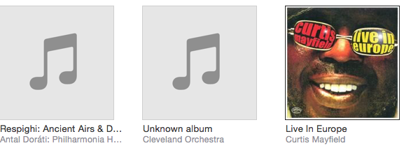Cleveland Orchestra music folder in iTunes from f d