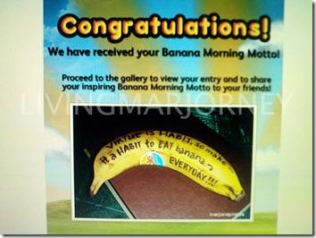 Dole Banana Morning Motto Entry