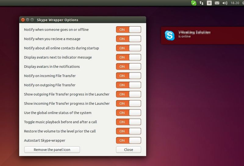 Skype Wrapper in Ubuntu 14.04 Trusty LTS