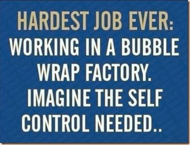 working in bubble factory