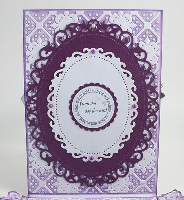 Purple Roses Wedding Card1