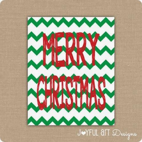 Merry Christmas 8x10 ETSY Listing