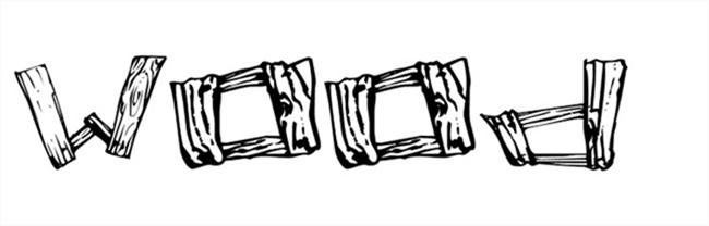 20 tipografías estilo madera gratis