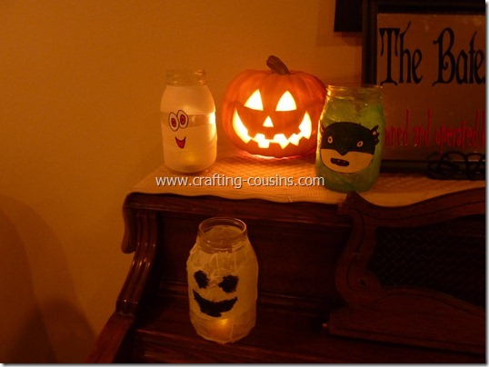 Halloween Luminaries from a Mason jar (11)