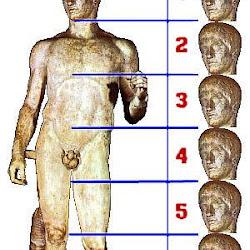 71 - Canon de las 7 cabezas de Policleto - Doriforo