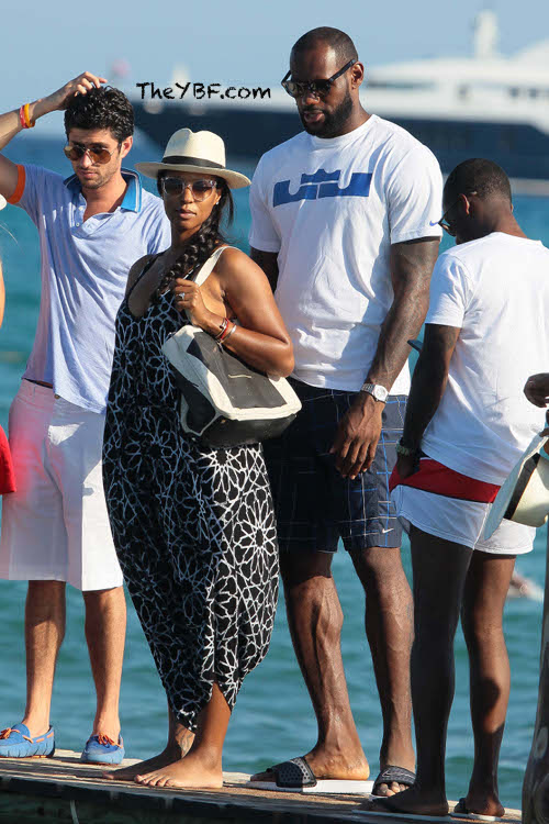 LeBron James And His Jacked Up Feet On Vacay In St. Tropez ...