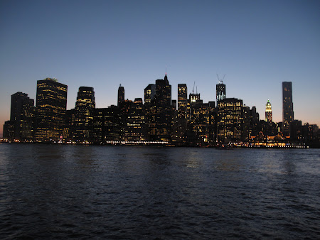 Things to do in New York: see the night view from Brooklyn Bridge Park.JPG