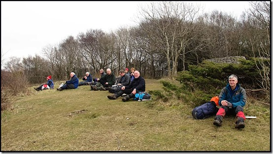 Lunch on Arnside Knott (159 metres)