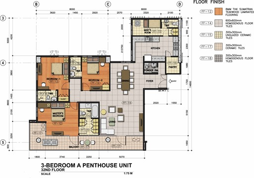 3 BEDROOM PENTHOUSE-A