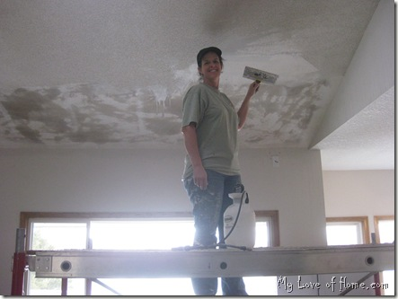 Removing textured ceilings