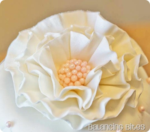 Quilted Fondant Wedding Cake Flower