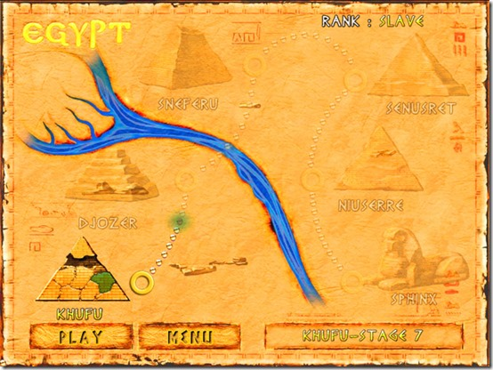  Experience challenging levels of a brilliant game Brickshooter Egypt!