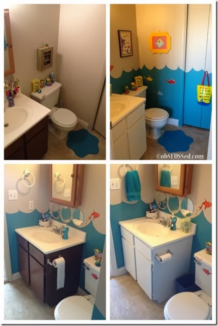 Seuss Fish Bathroom before after obSEUSSed