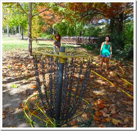 Marsha and frisbee golf