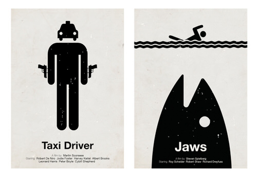 Movie pictogram posters design
